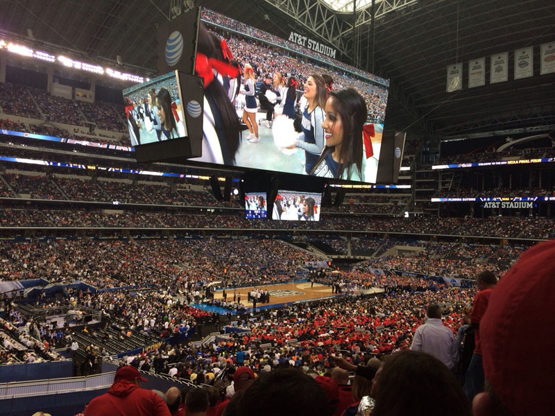 screen at dallas cowboys stadium bigger than basketball court march madness final four 2014 Picture of the Day: Larger Than Life