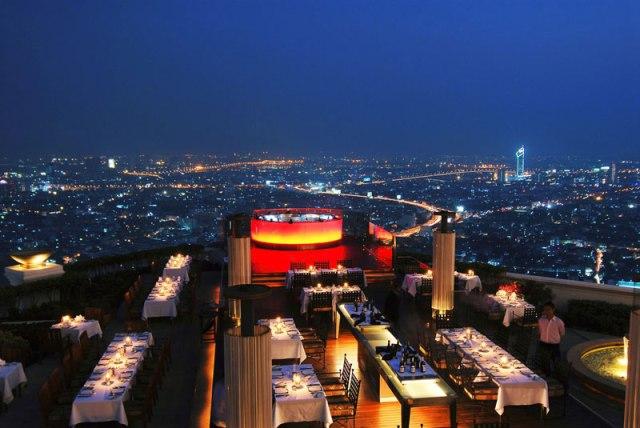 sirocco rooftop restaurant lebua hotel bangkok thailand