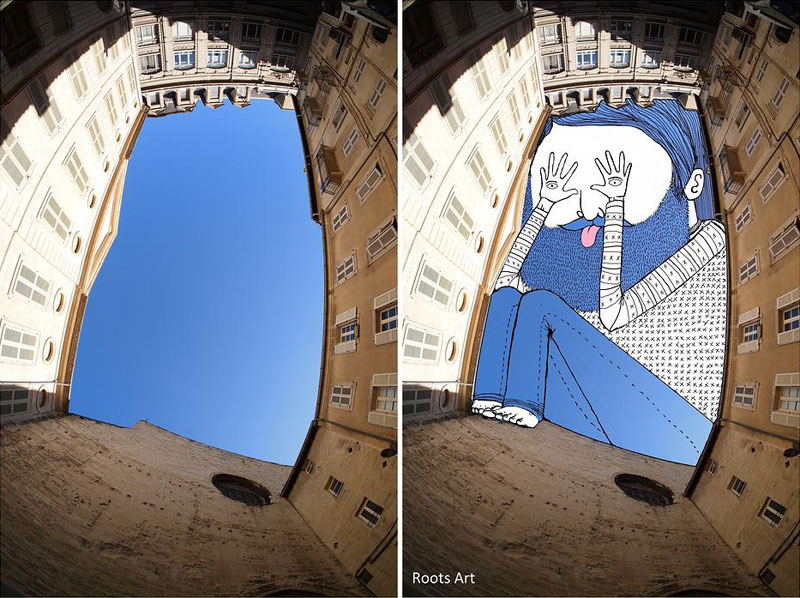 sky art drawings by thomas lamadieu roots art 6 16 Creative Sketches That Incorporate Everyday Objects