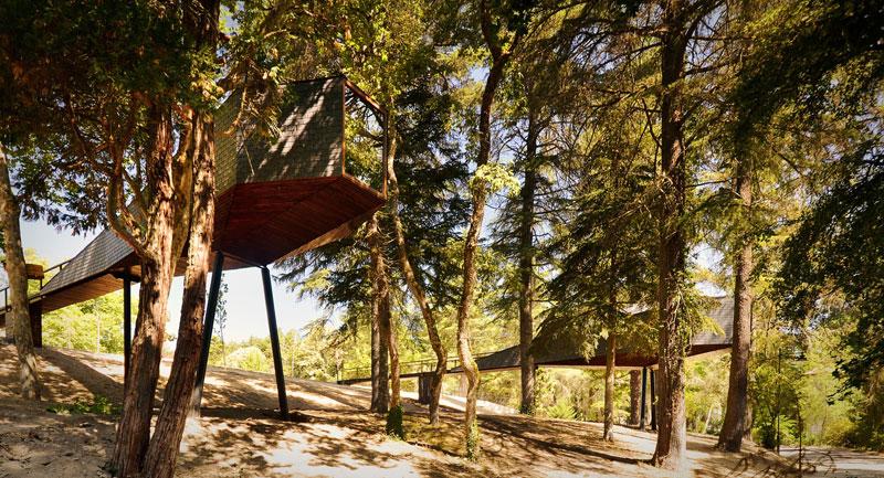 snake-shaped tree house by luis and tiago rebelo de andrade pedras salgadas spa and nature park (1)