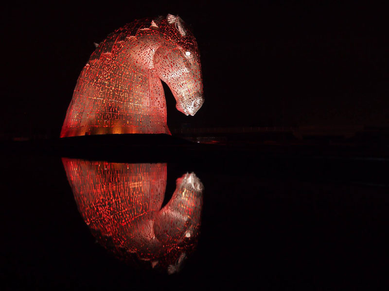 the kelpies giant horse-head sculptures the helix, scotland by andy scott (1)