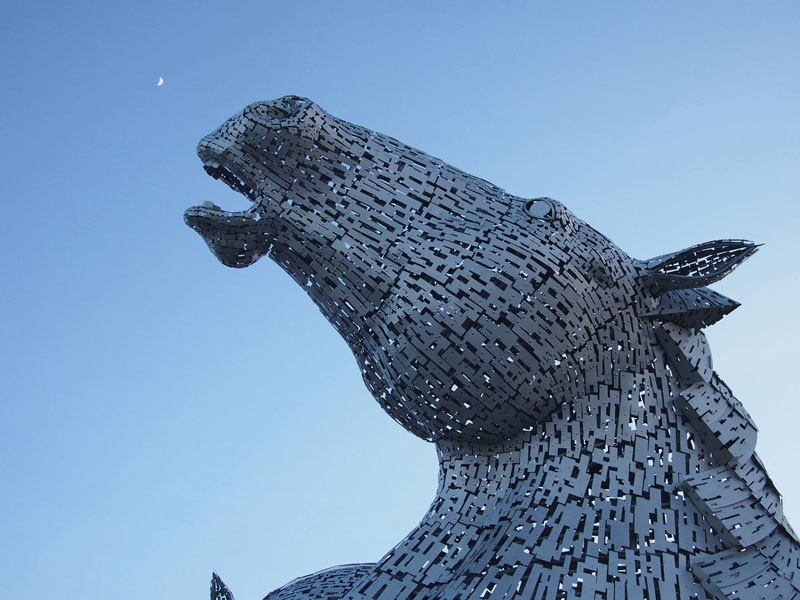 the kelpies giant horse-head sculptures the helix, scotland by andy scott (4)