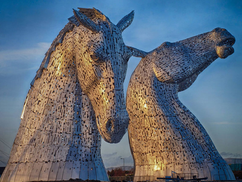 the kelpies giant horse-head sculptures the helix, scotland by andy scott (5)