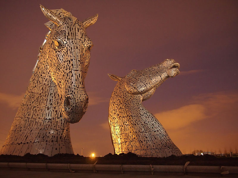 The Kelpies: Scotland's 100 ft Horse-Head Sculptures