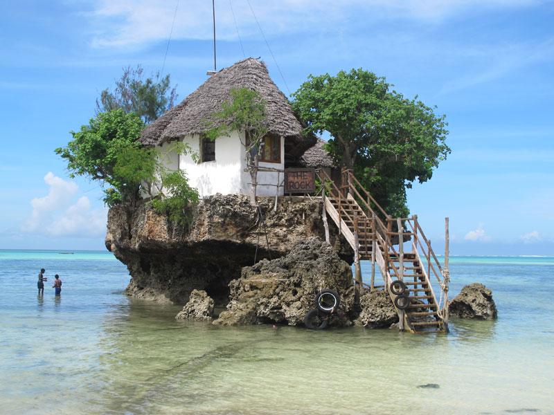the rock restaurant in zanzibar 18 Restaurants In Unforgettable Settings