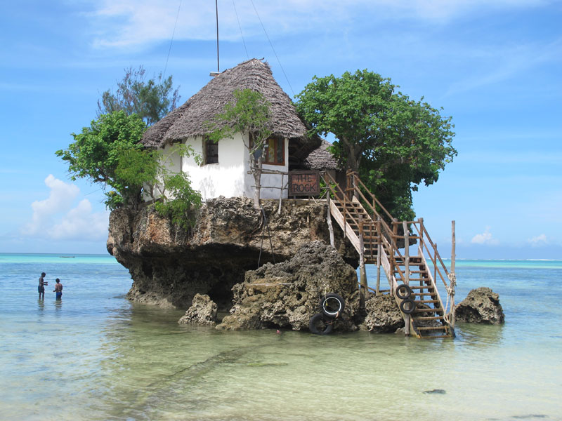 the rock restaurant in zanzibar 18 Restaurants In Unforgettable Settings