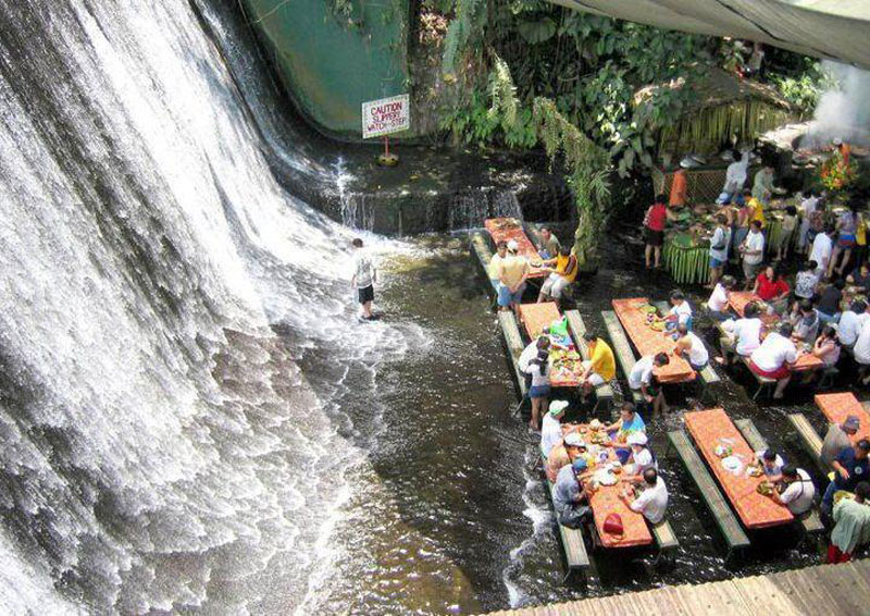 waterfall restaurant villa escudero phillippines 6 18 Restaurants In Unforgettable Settings