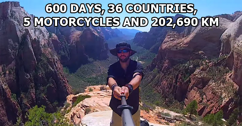 This Guy Rode Over 200,000 km and Took a 360 Panorama Everywhere HeWent