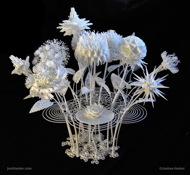 3d printed flower bouquet by joshua harker 17 3D Printed Sugar Cubes are Here