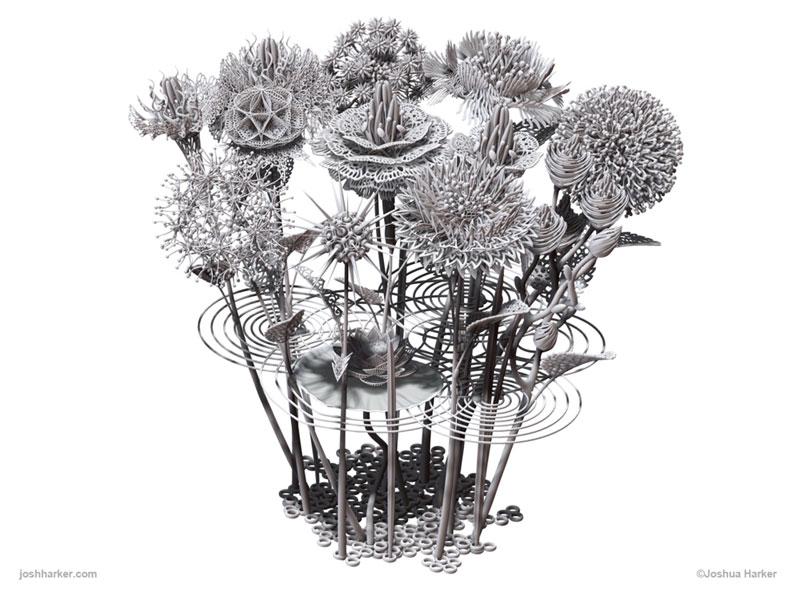 3d printed flower bouquet by joshua harker (19)