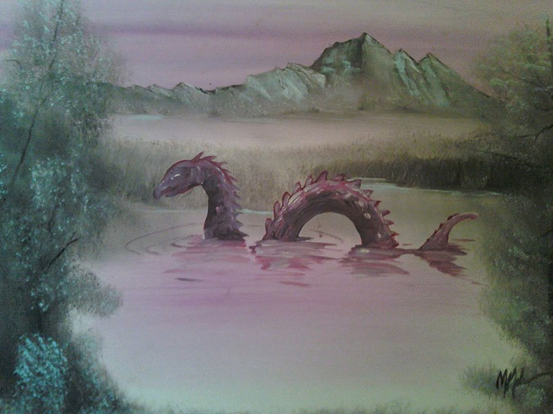 adding monsters to dollar store paintings by chris mcmahon (1)