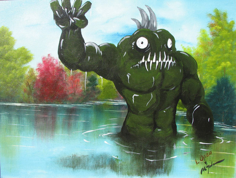 adding monsters to dollar store paintings by chris mcmahon (5)