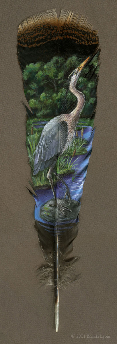 animals painted onto bird feathers by brenda lyons falcon moon studio (4)
