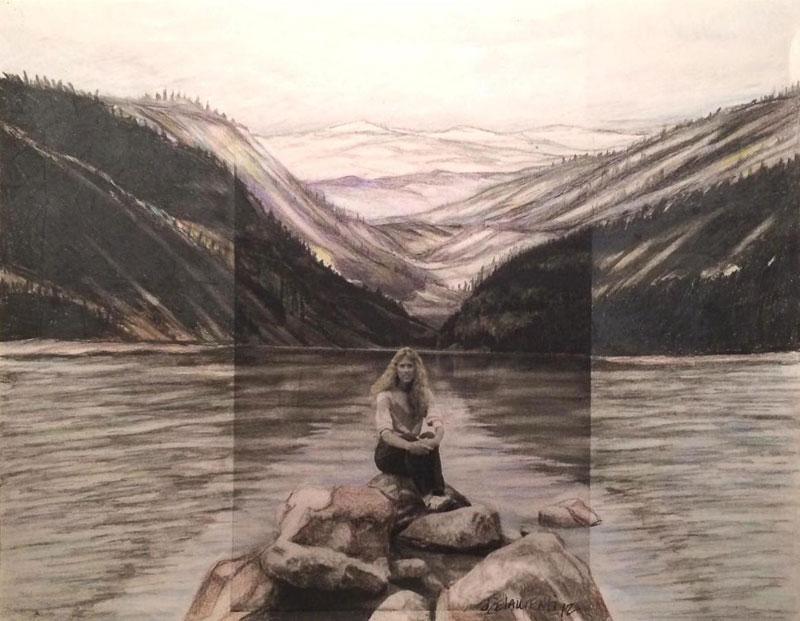 Artist Extends Photos Beyond Their Borders Using ColoredPencils