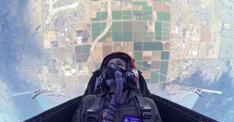 This Guy Got to Ride in an F16 so He Took a GoPro withHim