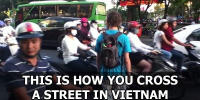 The Art of Street Crossing in Vietnam