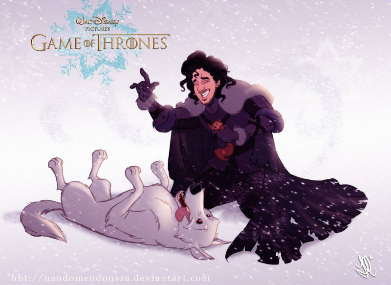 if game of thrones were drawn by disney 1 If Modern Favorites Were on VHS