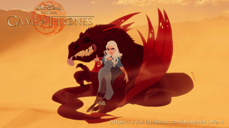 if game of thrones were drawn by disney (5)