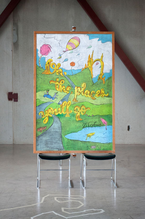 motivational chalk board drawings famous quotes by dangerdust 4 Animal Murals that Seem to Leap Off the Wall