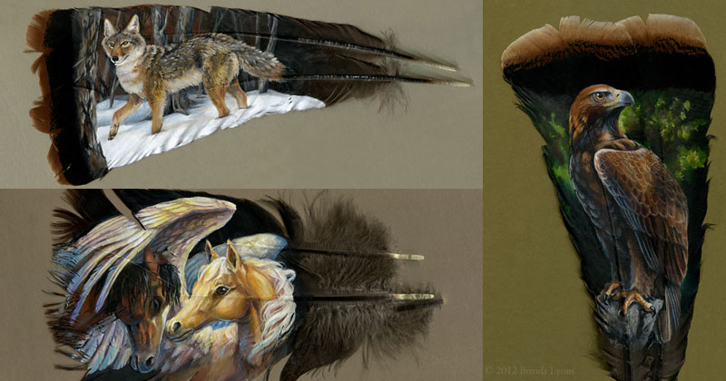 This Painter Uses Old Turkey Feathers as HerCanvas