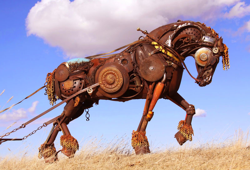 scrap metal stallion by john lopez (5)