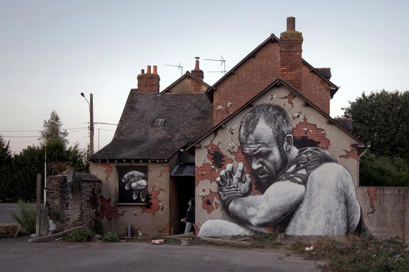 15 hyperrealistic street art portraits by mto twistedsifter for 3d street painting mural art