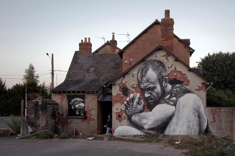 street art graffiti by mto 2 Shipping Gods by Pichi and Avo