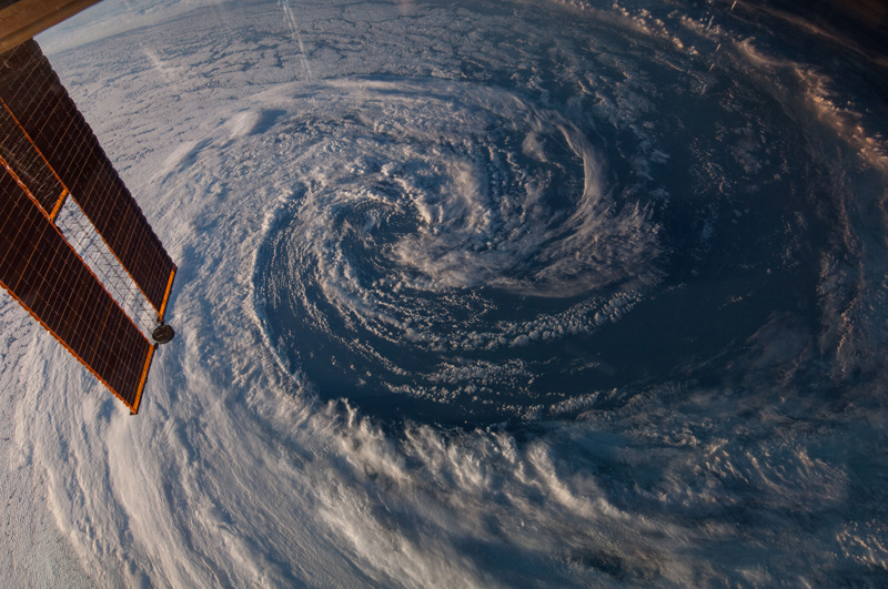 swirling storm from space iss nasa The Top 50 Pictures of the Day for 2014