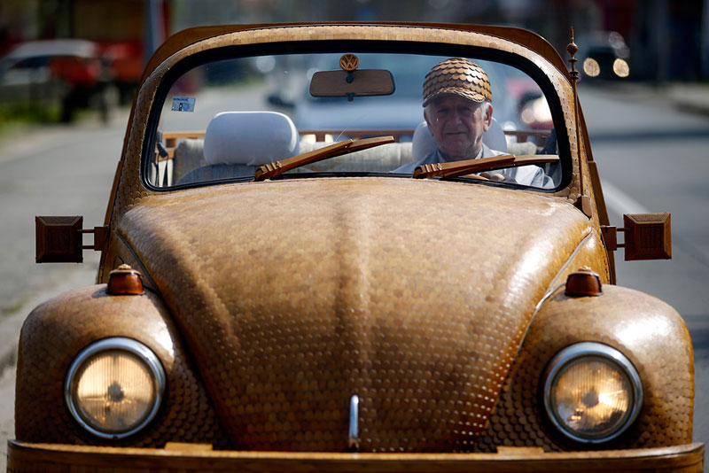 wooden beetle made from 50000 pieces of oak momir bojic bosnia (1)