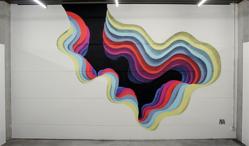 These Abstract Street Artworks Look Like Portals to Another Dimension