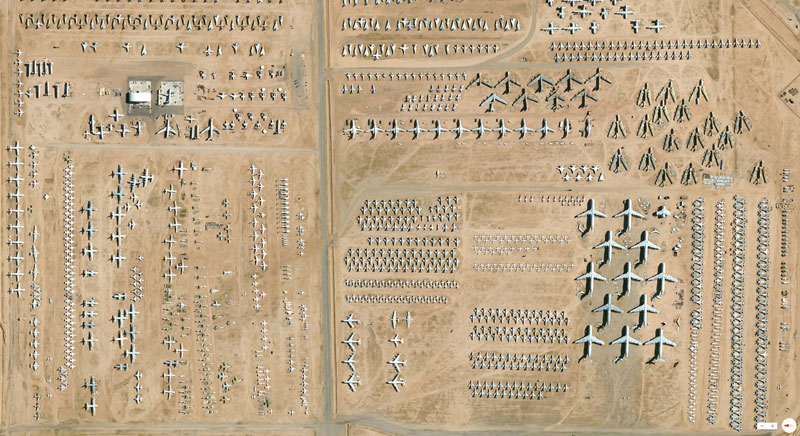 aerospace maintenance and regeneration group tucson arizona from above aerial satellite 17 Satellite Photos Around the World that Will Change Your Perspective