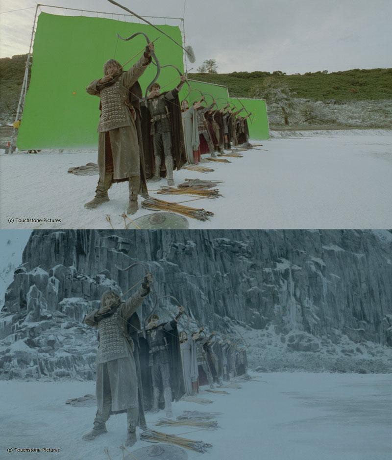 Antes e Depois Disparos que demonstram o poder de Efeitos Visuais (10)