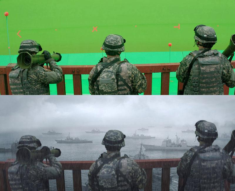 Antes e Depois Disparos que demonstram o poder de Efeitos Visuais (24)