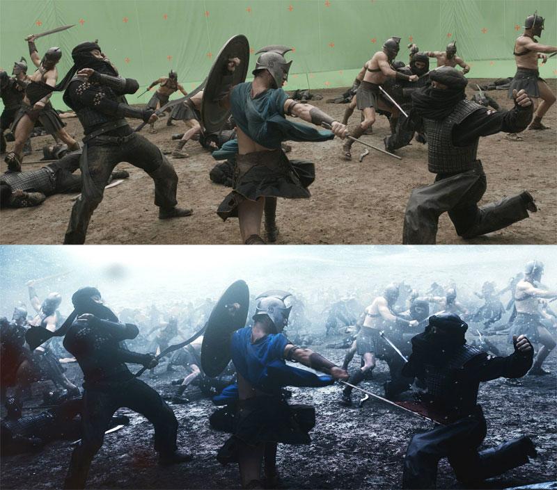 Antes e Depois Disparos que demonstram o poder de Efeitos Visuais (5)