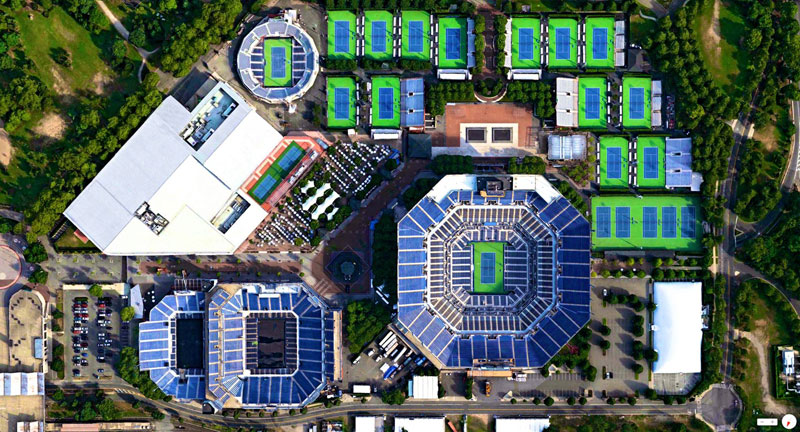 billie jean king national tennis center new york city from above aerial satellite 17 Satellite Photos Around the World that Will Change Your Perspective