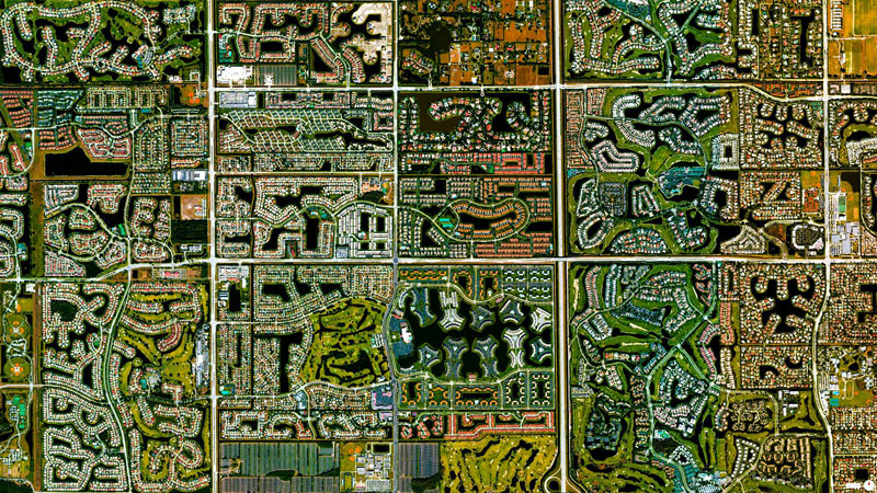 boca raton florida from above aerial satellite 17 Satellite Photos Around the World that Will Change Your Perspective