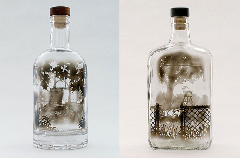 bottled smoke art by jim dingilian 12 Solar Drawings Made with a Magnifying Glass