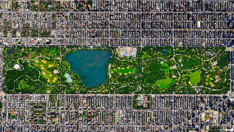 central park new york city from above aerial satellite 17 Satellite Photos Around the World that Will Change Your Perspective