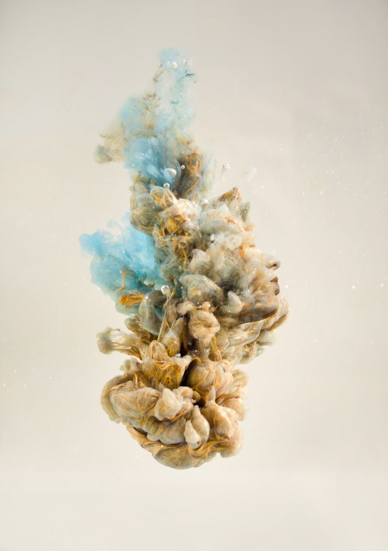 double exposure faces blended into plumes of ink in water by chris slabber (9)