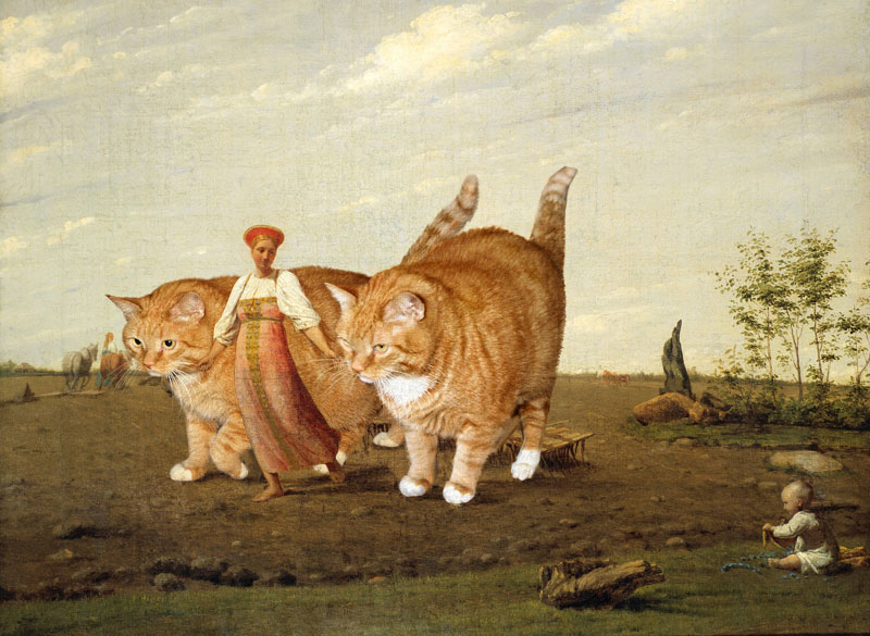 Fat Cat Photoshopped Into Famous Artworks 12 Twistedsifter