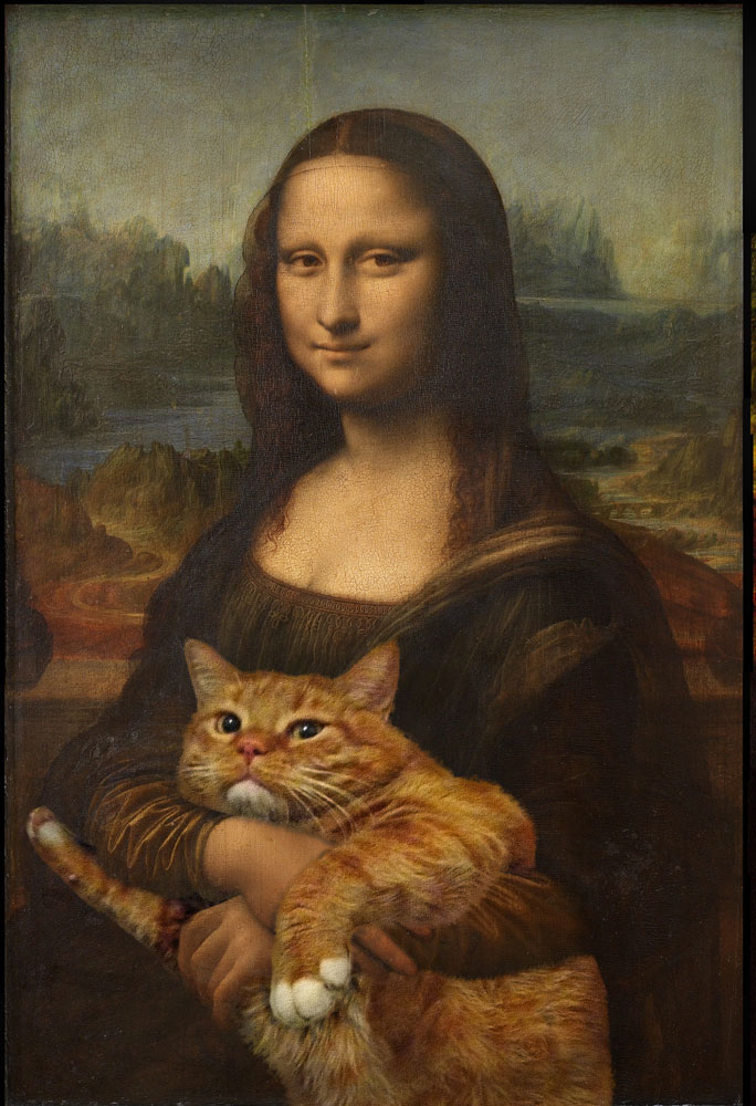 fat cat photoshopped into famous artworks (3)