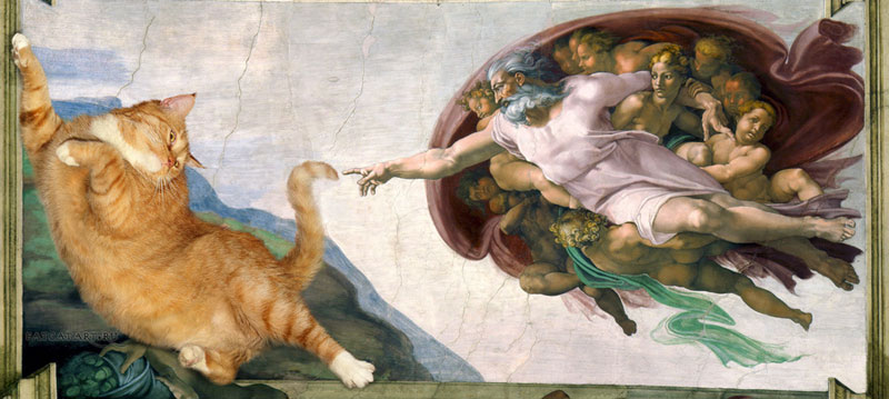 This Artist Photoshops Her Fat Cat Into Famous Artworks And Its
