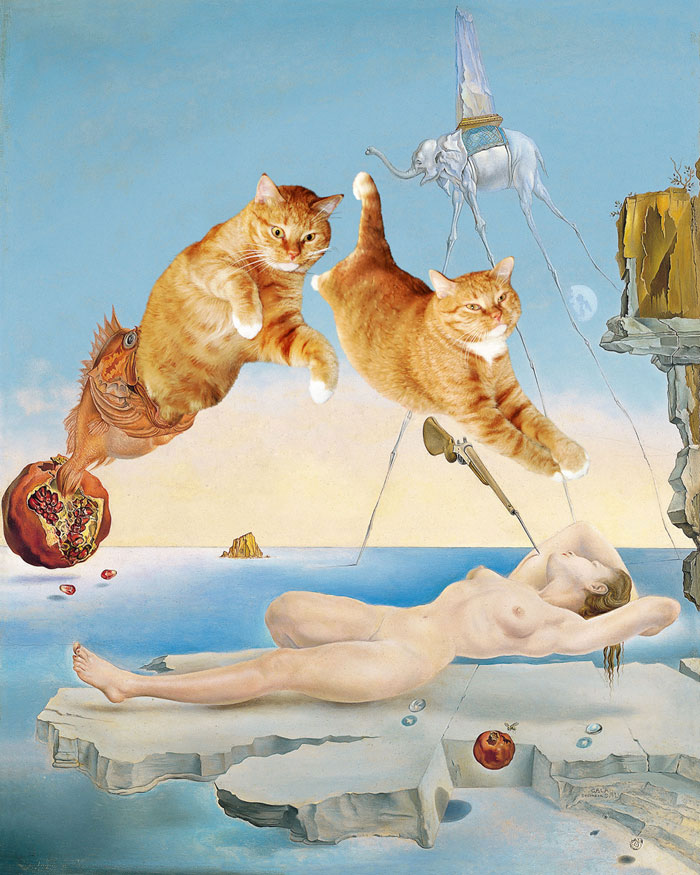 fat cat photoshopped into famous artworks (7)