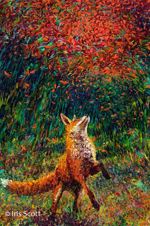 dedo arte pinturas de íris scott (1)