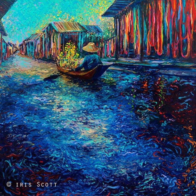 dedo arte pinturas de íris scott (3)