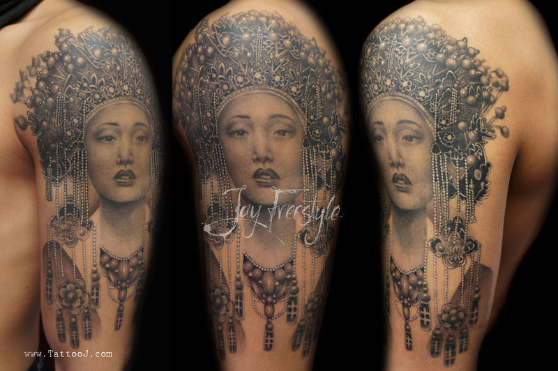 freehand tattoos by jay freestyle 16 Insanely Detailed Sleeve Tattoos by Niki Norberg