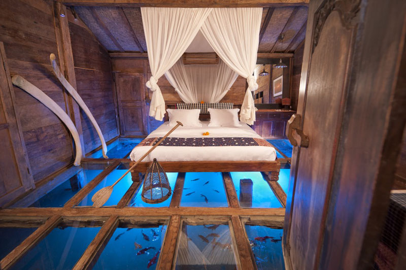 Picture of the Day: The Glass Bottom Bedroom inBali