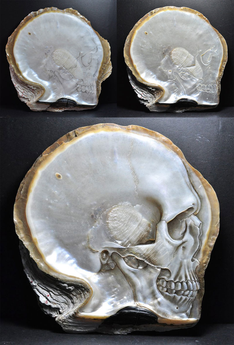 hand carved skulls into mother of pearl shells by gregory raymond halili (11)
