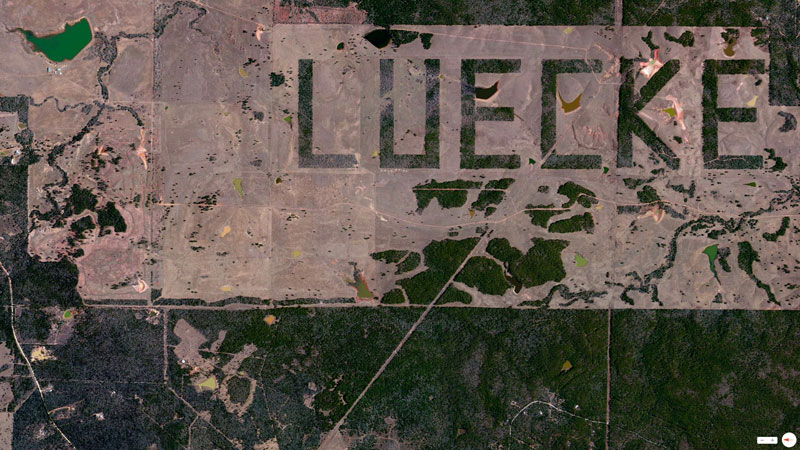 luecke farm texas from above aerial satellite 17 Satellite Photos Around the World that Will Change Your Perspective