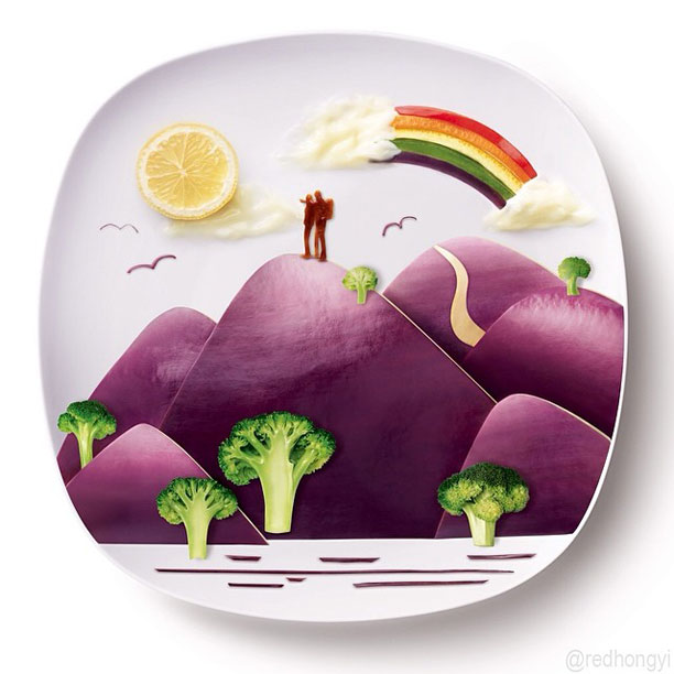 painting with food by red hong yi (12)